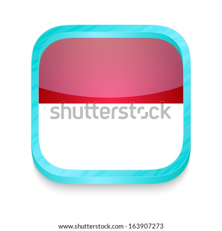 Smart phone button with Indonesia flag