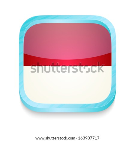 Smart phone button with Monaco flag