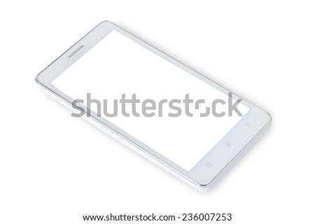 smart phone isolated white background