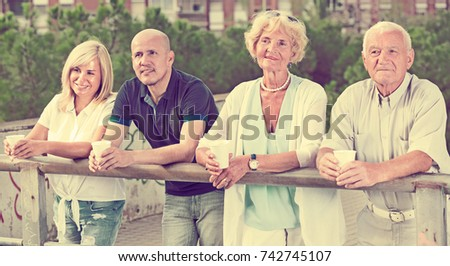 Elderdly Woman On Wheelchair Garden Assisted Stock Photo
