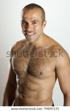 Smiling fit Latin Guy