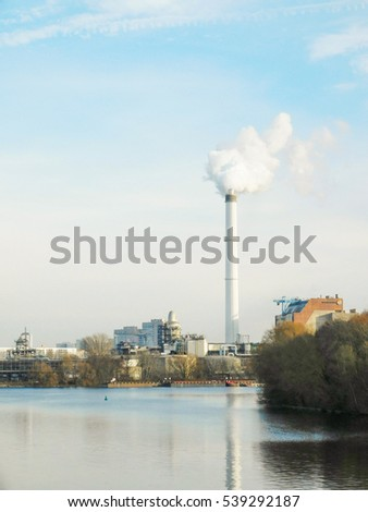 smoke from factory,4-12-2016,berlin,Germany