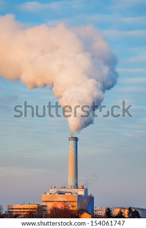 Smoking pipe of power plant