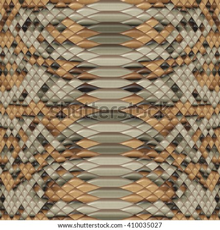 Snake skin pattern seamless texture background.