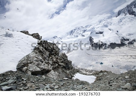 Snow mountain in Zermatt, Switzerland
