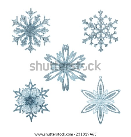 Snowflakes decoration isolated on a white background