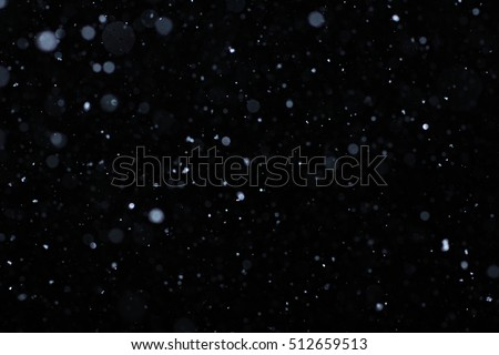 "Snowstorm texture. Bokeh lights and Falling snow on a black background for use as a texture layer in your project. Add as ""Lighten"" Layer in Photoshop to add falling snow to any image."