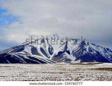 Snowy Borah Peak in Idaho