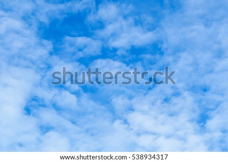 So Blue Sky with Cloud background