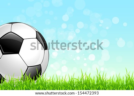 Soccer Background with Goalkeeper and Ball.  Original illustration sports series. Classical football poster.