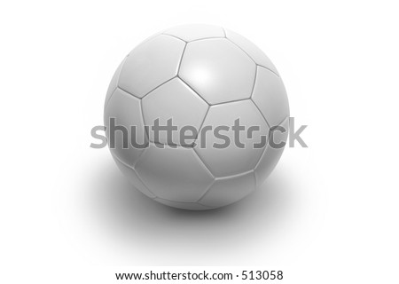 Soccer ball isolated on white background. Photorealistic 3D rendering. (all white, see portfolio for more colors)