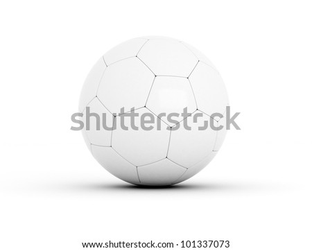 soccer ball white