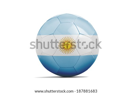 Soccer balls with teams flags, Football Brazil 2014. Group F, Argentina