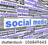 Social media message conceptual design. New media conceptual design - stock photo
