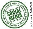 Social media stamp - stock
