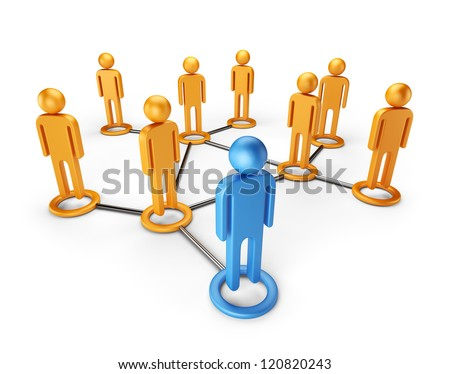Social network community. Global communication concept 3D, isolated