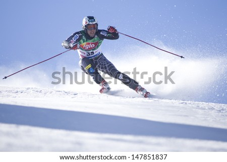 SOELDEN AUSTRIA OCT 26, Eric Schlopy USA  competing in the mens giant slalom race at the Rettenbach Glacier Soelden Austria, the opening race of the 2008/09 Audi FIS Alpine Ski World Cup