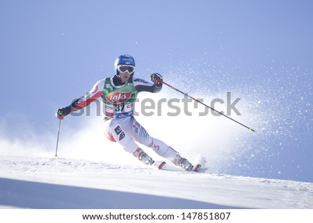 SOELDEN AUSTRIA OCT 26, Philipp SCHOERGHOFER AUT competing in the mens giant slalom race at the Rettenbach Glacier Soelden Austria, the opening race of the 2008/09 Audi FIS Alpine Ski World Cup