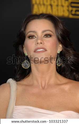 Sofia Vergara at the 2009 American Music Awards Arrivals, Nokia Theater, Los Angeles, CA. 11-22-09