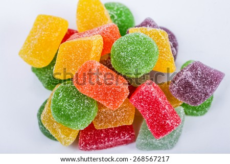 soft jelly with bright background