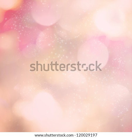 Soft pink light abstract background with sparkling white stars.