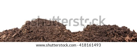 Soils for plants. isolated on white background
