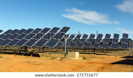 Solar panel system. Energy production