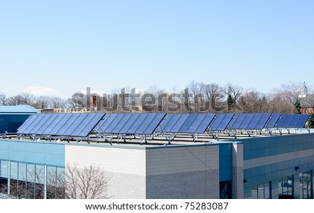 Solar Panels installed on public building