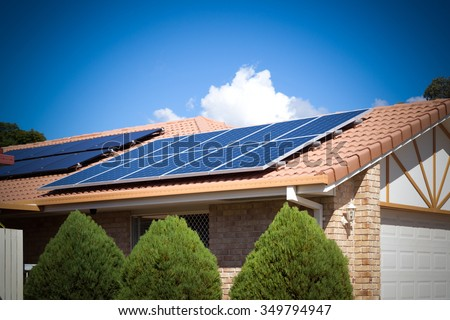 Solar panels on the roof, Australia