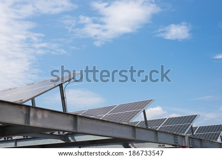 Solar power and blue sky