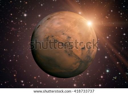 a description of mars as the fourth planet from the sun Stargazers from antiquity have called mars, the fourth planet from the sun, mars, the red planet the red color of the surface comes from iron oxide or rust in the soil the topography is characterized by large volcanoes and deep valleys, and mars experiences frequent planet-wide wind storms.
