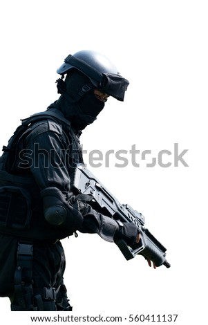 Soldier on white background.