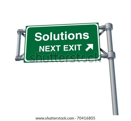 Solutions Freeway Exit Sign highway street symbol green signage road symbol isolated