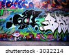 Some more funky graffiti - stock photo