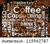 sorts of coffee with stains of coffee - stock vector