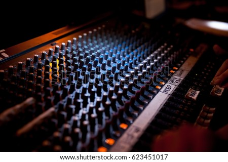 Sound technician and lights technicians control the music show in night club.Professional audio & Sound Technician Lights Technicians Control Music Stock Photo ... azcodes.com