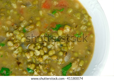 soup with beans mung