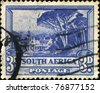 SOUTH AFRICA - CIRCA 1939: A stamp printed in South Africa shows Bilingual pairs, Groot Schuur, circa 1939 - stock photo