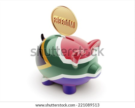 South Africa High Resolution Freedom Concept High Resolution Piggy Concept