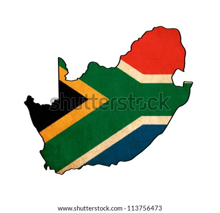 south africa map drawing