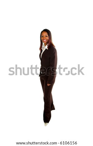 Pity, black woman standing tall can