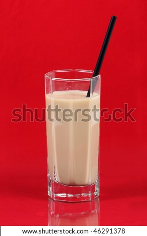 soy milk in a glass