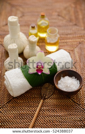 spa treatment and mat background