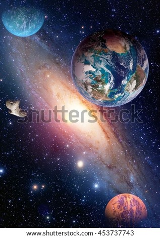 Space Shuttle Ship Satellite Spaceship Earth Stock Photo ...
