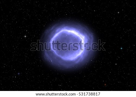 Space Scene Background With Colorful Nebula Clouds and Star Cluster