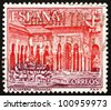 SPAIN - CIRCA 1964: a stamp printed in the Spain shows Court of Lions, Alhambra, Granada, Andalusia, Spain, circa 1964 - stock photo