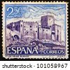 SPAIN - CIRCA 1969: A stamp printed in the Spain shows Velez Blanco, Almeria, Spain, circa 1969 - stock photo