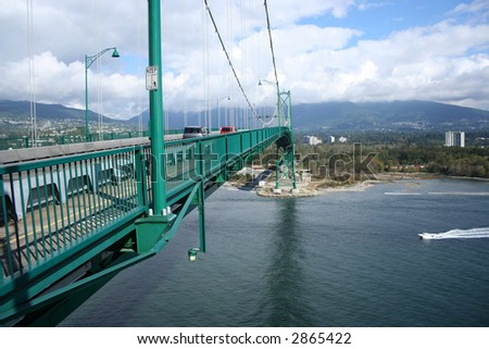 span of Lions Gate Bridge Vancouver Canada