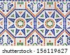 spanish tile - stock photo