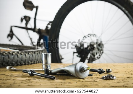 Spare Parts Repair Sleeve Rear Wheel Stock Photo 632273042